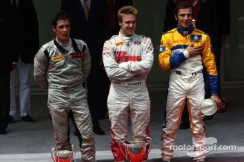 Alvaro Parente, Racing Engineering, Davide Valsecchi, Team Air Asia and Luca Filippi, Super Nova Racing