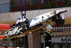 Sauber von Sergio Perez nach Crash