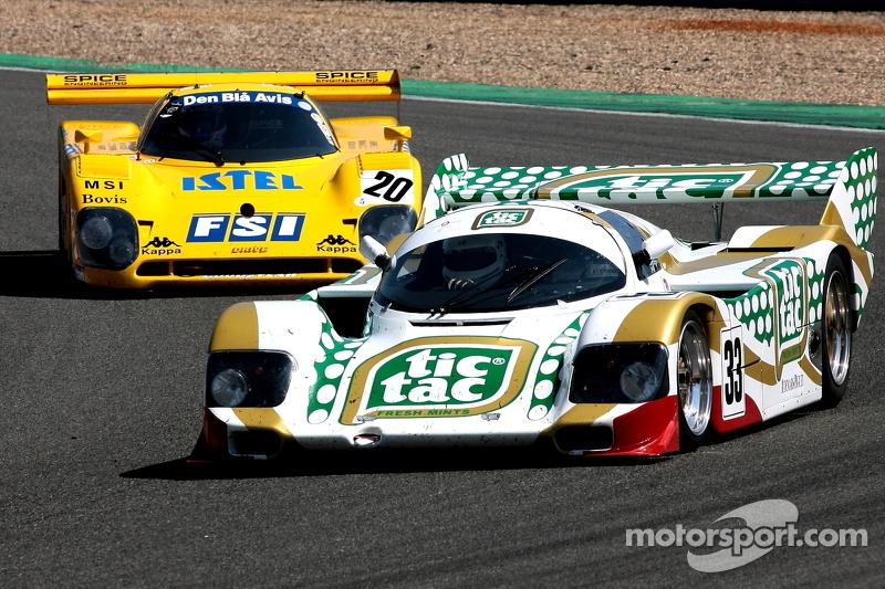 #33 Porsche 962: Henrik Lindberg, Peter Nielson; #20 Spice: Claus Bjerglund