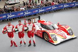 #13 Rebellion Racing Lola B 10/60 Coupe-Toyota: Andrea Belicchi, Jean-Christophe Boullion, Guy Smith