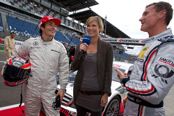 Nicky Hayden, Ducati Team, Norbert Haug, Sporting Director Mercedes-Benz, Verena Wriedt and David Coulthard, Mücke Motorsport