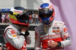 Pedro de la Rosa, Test driver, McLaren Mercedes and Jenson Button, McLaren Mercedes