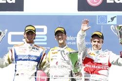Romain Grosjean, Dams and Giedo Van der Garde, Barwa Addax Team and Davide Valsecchi, Team AirAsia