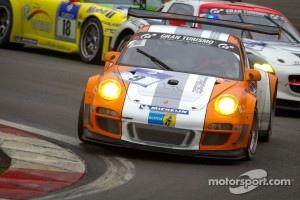 #9 Porsche Team Manthey Porsche 911 GT3 R: Jörg Bergmeister, Richard Lietz, Marco Holzer, Patrick Long