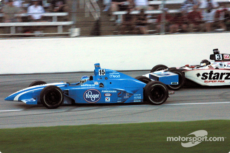 Sarah Fisher and Al Unser Jr.