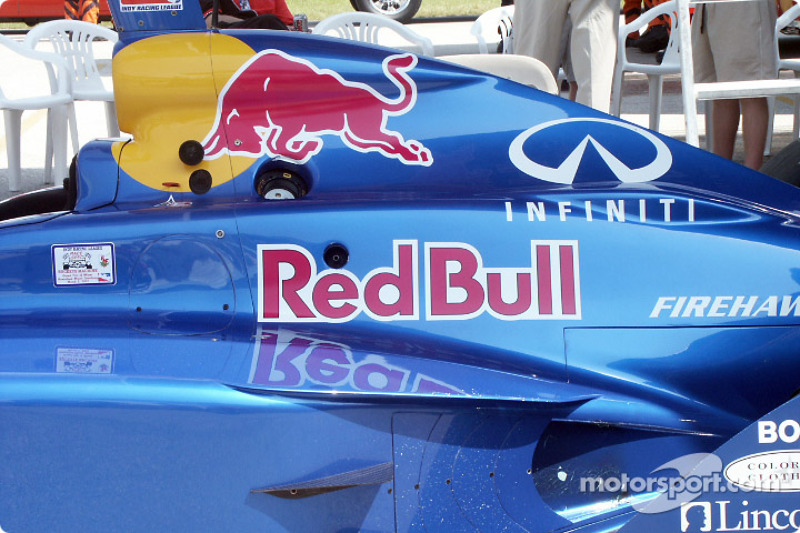Red Bull car in the paddock