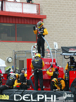 Getting ready for a pitstop