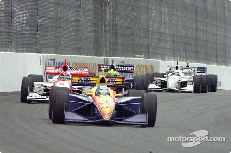 Sarah Fisher out in front