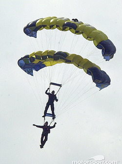 The Navy Seals do a practice jump