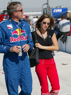 Eddie Cheever with Infiniti's Heather Handley
