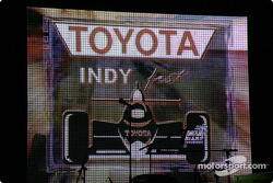 Toyota Indy Feat held in South Beach, Miami: billboard illuminates the Miami sky
