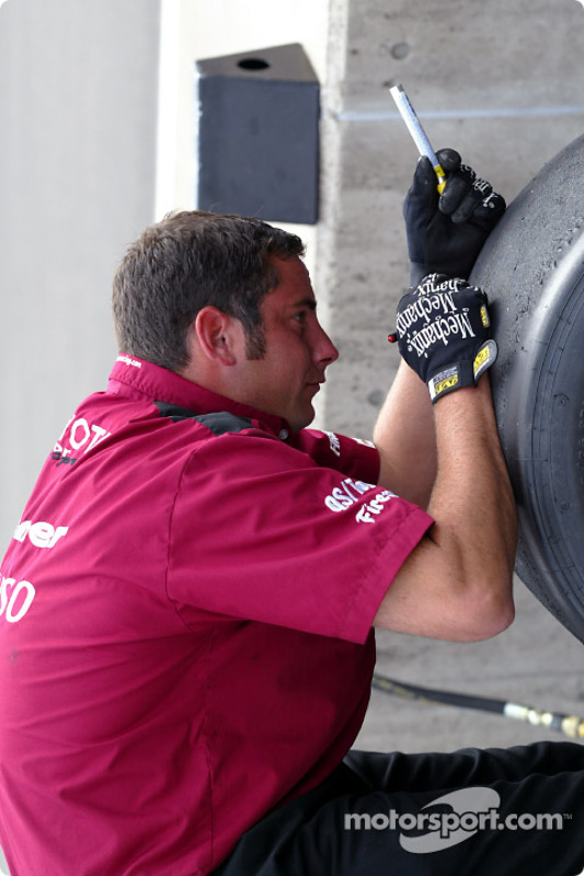 Préparation des pneus