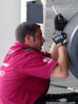 Preparing the tires