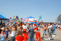 Fans at Michigan International Speedway