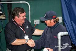 Buddy Rice visits the Cincinnati Reds