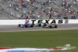 Dario Franchitti, Adrian Fernandez and Tony Kanaan