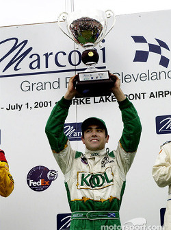 Race winner Dario Franchitti