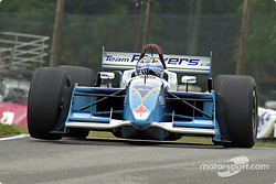 Patrick Carpentier gets a wheel up