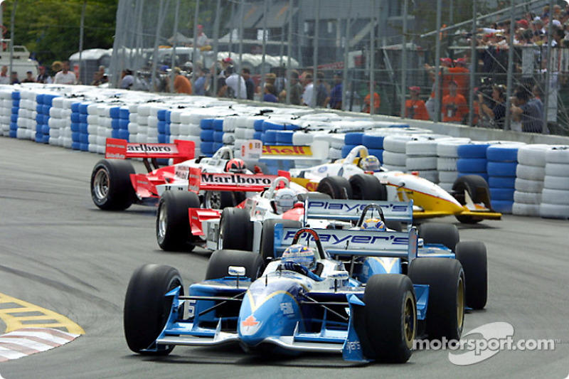 The start: Alex Tagliani and Patrick Carpentier leading the field