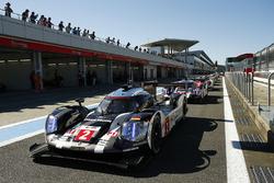 #2 Porsche Team, Porsche 919 Hybrid: Romain Dumas, Neel Jani, Marc Lieb;, #1 Porsche Team, Porsche 919 Hybrid: Timo Bernhard, Mark Webber, Brendon Hartley