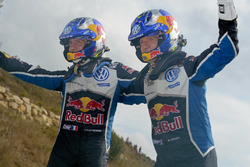 Les vainqueurs Sébastien Ogier, Julien Ingrassia, Volkswagen Polo WRC, Volkswagen Motorsport
