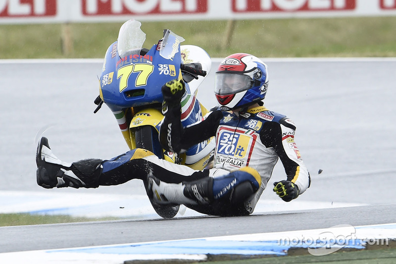 Crash: Lorenzo Petrarca, 3570 Team Italia