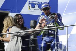 Podium : le second Valentino Rossi, Yamaha Factory Racing