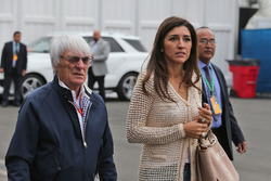 Bernie Ecclestone, with his wife Fabiana Flosi