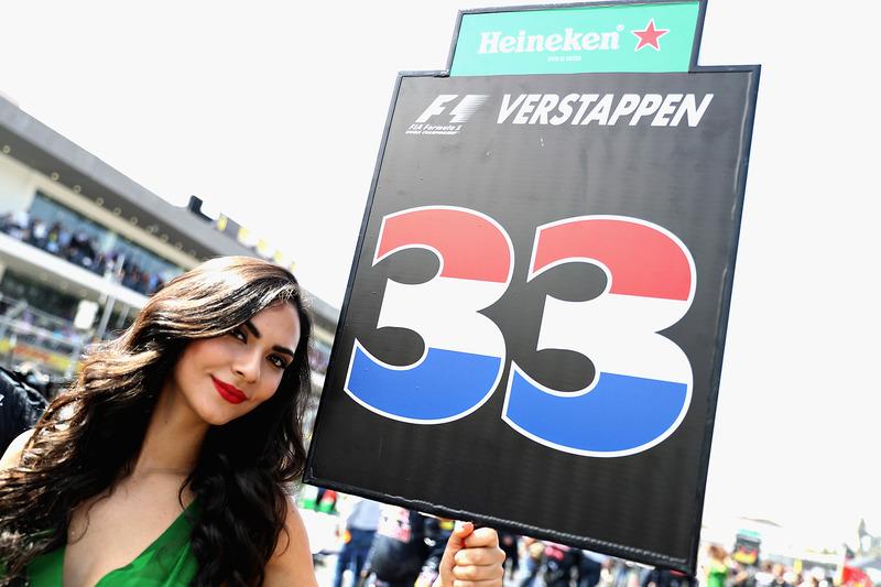 Chica de la parrilla de Max Verstappen, Red Bull Racing
