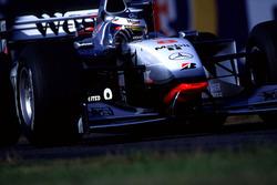 Mika Hakkinen, McLaren leads