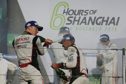 Podium: #6 Toyota Racing Toyota TS050 Hybrid: Stéphane Sarrazin, Mike Conway