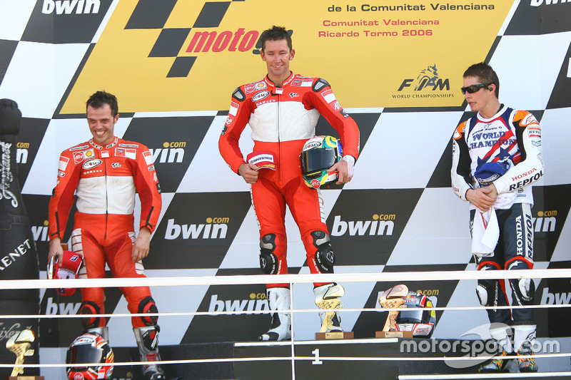 2016: 1. Troy Bayliss, 2. Loris Capirossi, 3. Nicky Hayden