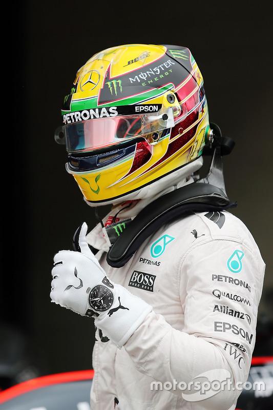 Lewis Hamilton, Mercedes AMG F1 celebra su pole
