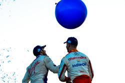 Podium : le second Sam Bird, DS Virgin Racing et le troisième Felix Rosenqvist, Mahindra Racing