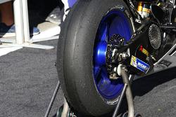 Le pneu Michelin de Jorge Lorenzo, Yamaha Factory Racing après la course
