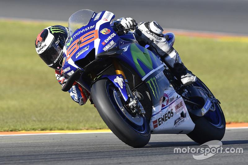 Хорхе Лоренсо під час останньої гонки на Yamaha, Гран Прі Валенсії 2016 року, в якій він став переможцем