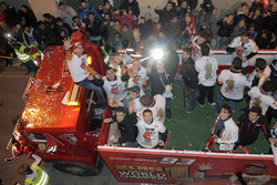 Marc Marquez, Repsol Honda Team celebrates his World Champion title at Cervera in Spain