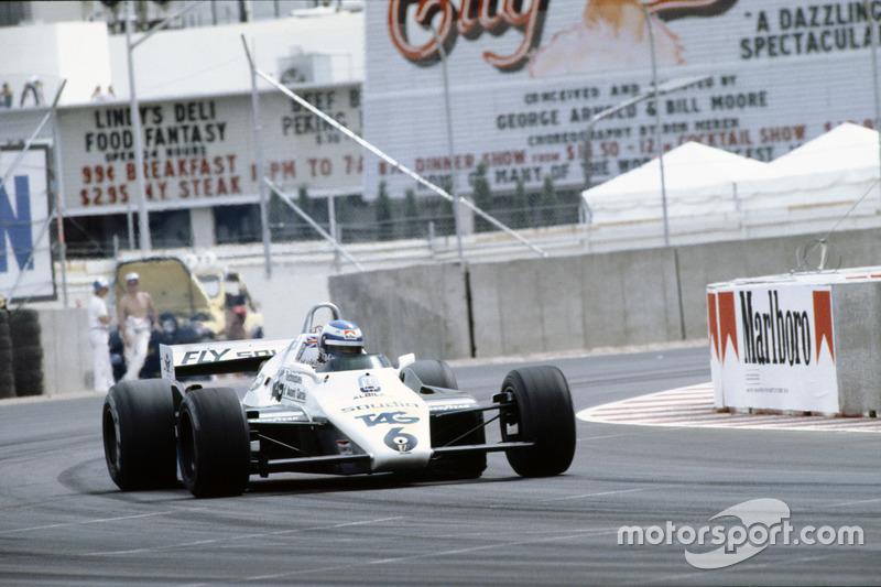 Keke Rosberg en el Williams FW08 Ford en la última cita de 1982