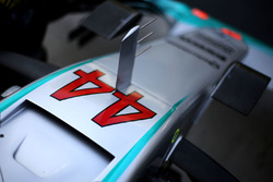 Lewis Hamilton, Mercedes AMG F1 W07 Hybrid car detail