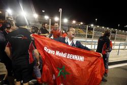 Le drapeau de Mehdi Bennani, Sébastien Loeb Racing, Citroën C-Elysée WTCC
