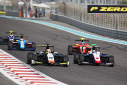 Alex Palou, Campos Racing leads Sandy Stuvik, Trident & Tatiana Calderon, Arden International