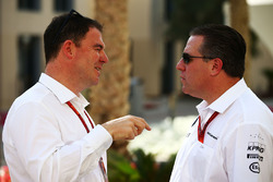 James Allen, Journalist with Zak Brown, McLaren Executive Director