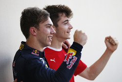 2016 GP2 Series champion Pierre Gasly, PREMA Racing and 2016 GP3 Series champion Charles Leclerc, ART Grand Prix