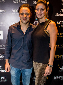 Felipe Massa, Williams F1 Team with his wife Anna Raffaela Bassi