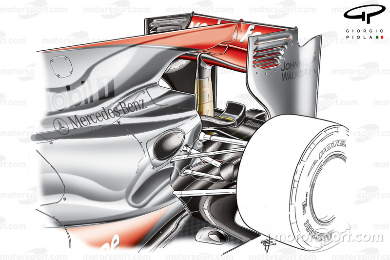 McLaren MP4-25 2010 achtervleugel met F-duct