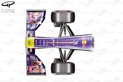 Передняя часть Red Bull RB7, вид сверху
