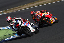 Fernando Alonso and Marc Marquez on the RC213V
