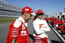 Sebastian Vettel, Ferrari y Kimi Raikkonen, Ferrari