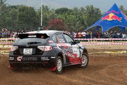 Sanjay Takale, Noriko Takeshita, Subaru Impreza WRX, Cusco Racing