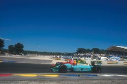 Mauricio Gugelmin, Leyton House CG901, Judd; Alain Prost, Ferrari 641